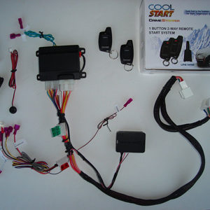 Two Way LED Remote Starter Kit w Keyless Entry for 2011-2015 Toyota Tacoma G Key Plug and Play Cropped