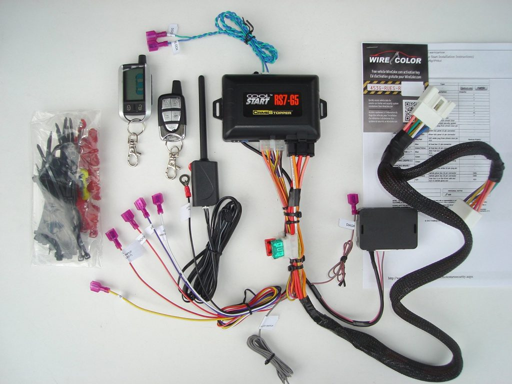 2011 Toyota Tacoma Wiring Harness Cover 2016 Highlander Curt T Connector 56217 Two Way Remote Starter Kit W Keyless Entry For 2015